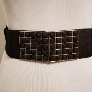 Black and gold waist belt